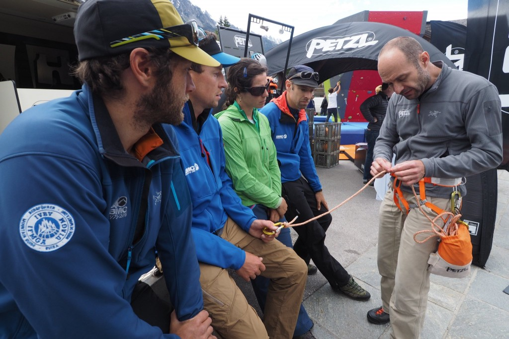 Petzl RAD workshop for British Mountain Guides at the Arc'teryx Academy in June 2016
