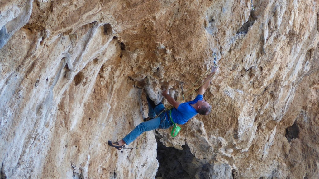 Classic Kalymnos Kranking. Photo: Hugh Sheehan
