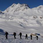 Hut to hut ski touring